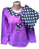 Пижама женская теплая горох серце