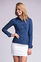 Классическая блузка с жемчужными пуговицами