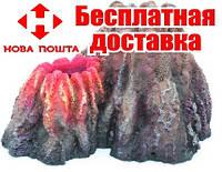 Декоративная скала-вулкан Resin Volcano 5151B, 26x23x17 см