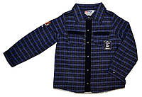 Байковая рубашка для мальчика на меху Overdo Kids 4638 р.110 синий