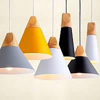 Подвесной светильник конус [ LOFT Wooden cone ]