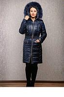 Куртка женская на зиму с песцом р-44-58