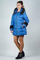 Зимняя молодежная женская куртка с мехом (50-62)