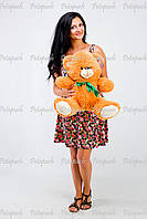 Большой плюшевый мишка, медведь Томми 50см карамельный