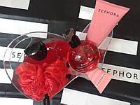 Набор для душа Sephora (с ароматом клубники) гель для душа, мыло, крема, мочалка, органайзер