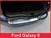 Накладка на задний бампер из нержавейки Ford Galaxy (2006-2010)