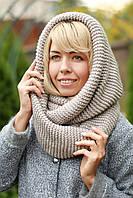 Снуд  шарф хомут шерстяной теплый