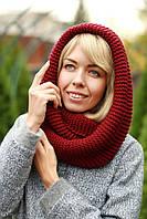 Снуд шапка шарф шерстяной плотный