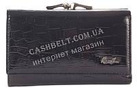 Стильный небольшой прочный лаковый кожаный женский кошелек  ROG BON art. R1603 черный, фото 1