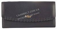 Стильный прочный кожаный качественный женский кошелек MORO art. MR-139-21 A черный