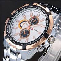 Часы мужские Curren Granit  silver gold white