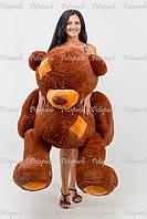 Большой плюшевый мишка, медведь Тэдди 150 шоколад