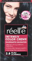 Крем - краска для волос réell'e Intensive Color Creme Blau Schwarz, 2.8 (черно - синий)