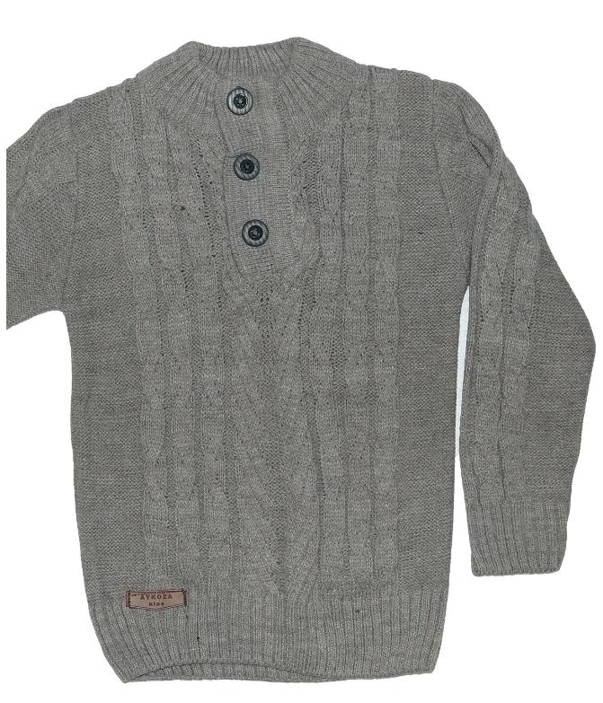 Стильный свитер для мальчика трикотаж вязка