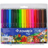 "Фломастеры18 цветов ""Фломики"" 550-18"
