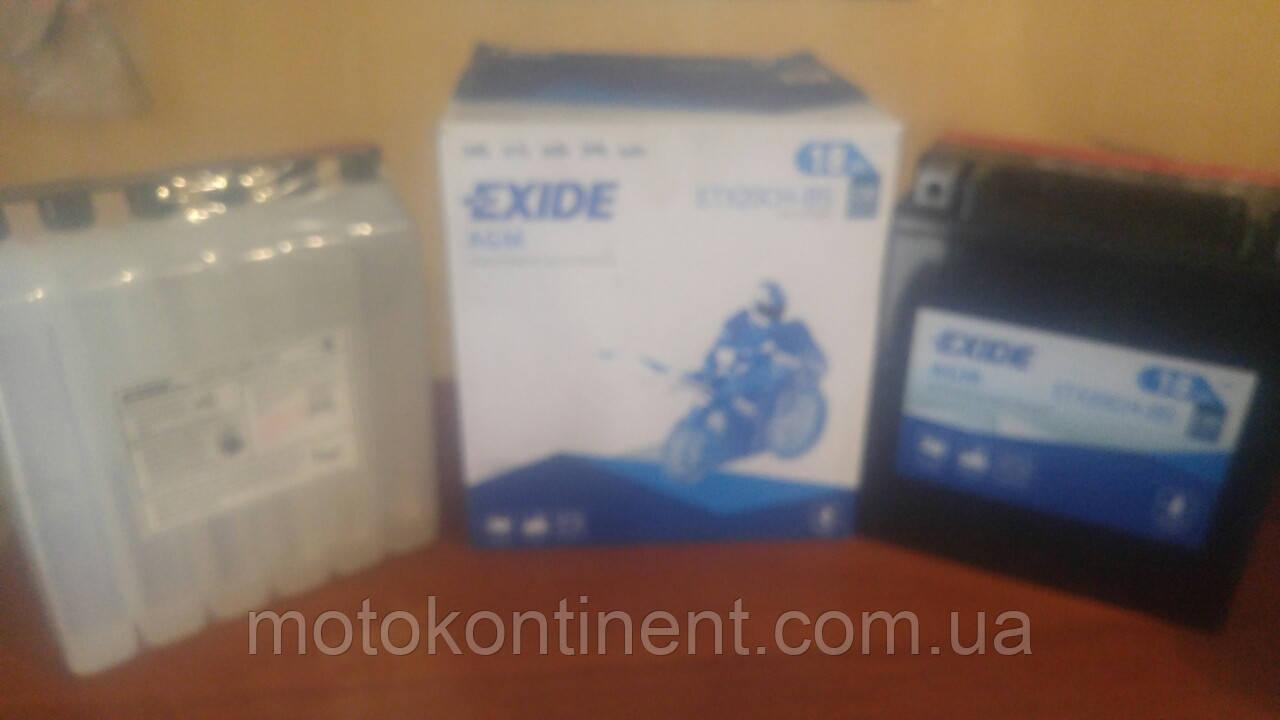 Аккумулятор для мотоцикла EXIDE  ETX20CH-BS = YTX20CH-BS  сухозаряженный AGM 118Ah 230A