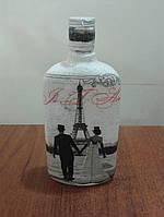 Бутылка декорированная техника декупаж