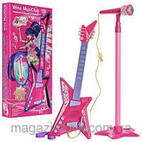 Детская гитара Winx с микрофоном WX 0073 U/R