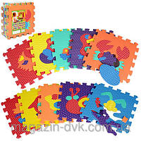 Коврик Мозаика морские животные M 2616 EVA для малышей