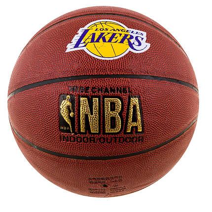 Мяч баскетбол Spalding NBA Lakers 25569-14, фото 2