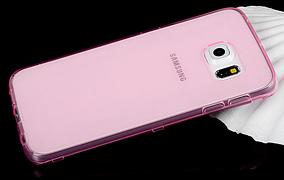 Силиконовый чехол Ultra-thin на Samsung Galaxy S6 Edge Plus SM-G928 Pink