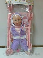 Кукольная коляска с пупсом 114-1-13