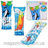 Матрац надувной корабли ,дельфины 58715
