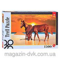 Пазлы  1500 Лошади на пляже 26093