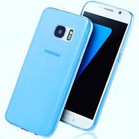 Силиконовый чехол Ultra-thin на Samsung Galaxy S6 Edge Plus SM-G928 Turquoise
