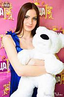 белый плюшевый медведь бублик 77 см от завода изготовителя
