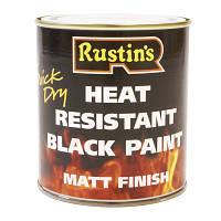 Термостойкая черная краска Heat Resistant Paint 220°C