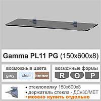 Полка стеклянная Commus PL11PG