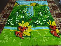 Одеяло стеганое чистая шерсть бязь премиум Ландыши