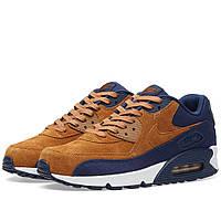 Оригинальные  кроссовки Nike Air Max 90 Premium Ale Brown & Midnight Navy
