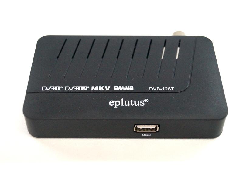 Цифровой эфирный тюнер Т2 Eplutus DVB-126T ресивер в машину