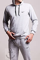 Мужской спортивный костюм Nike серый (осень) кенгуру