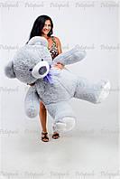 Большой плюшевый мишка, медведь Томми 150 см серый