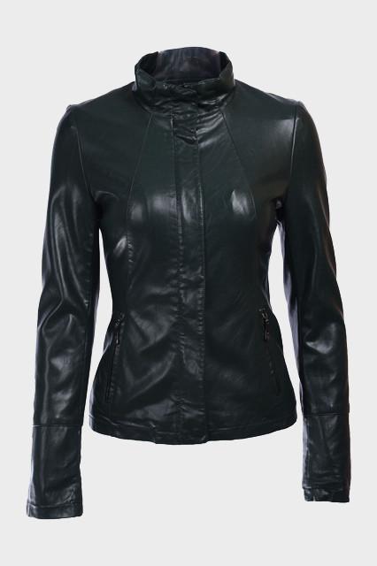 Женские куртки из искусственной кожи