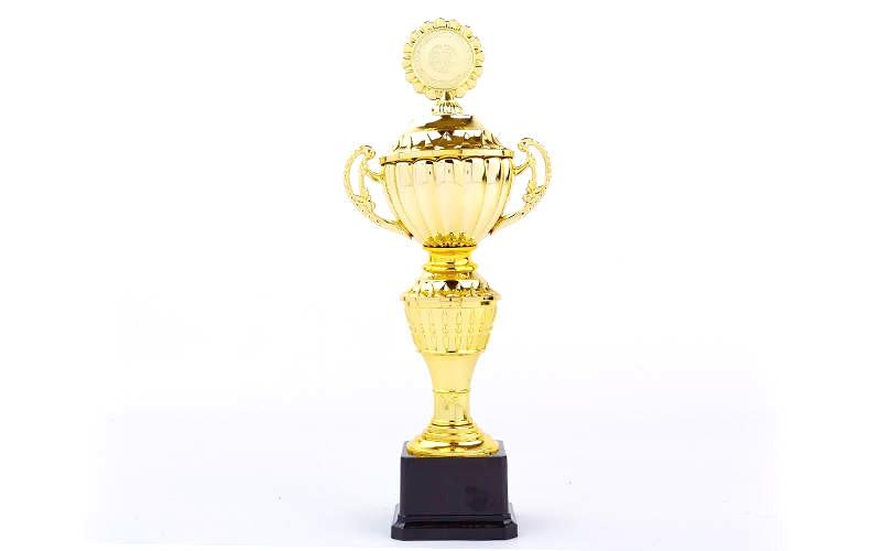 Кубок спортивный с ручками, крышкой и местом под жетон FURORE 36 см