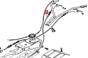 Трос сцепления З/Х для культиватора AL-KO MH 5001 R
