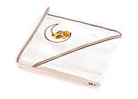 Детское махровое полотенце с уголком Sensillo Медвежонок Ecru, фото 1