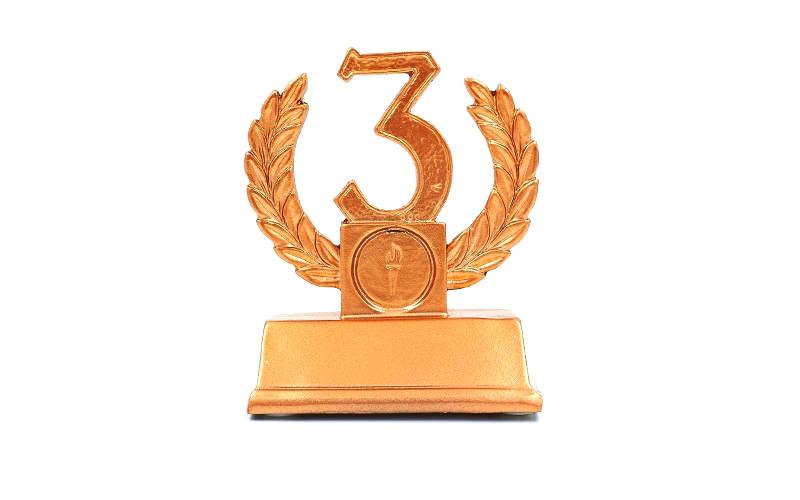Статуэтка наградная Венок 3-ое место (11.5 см)