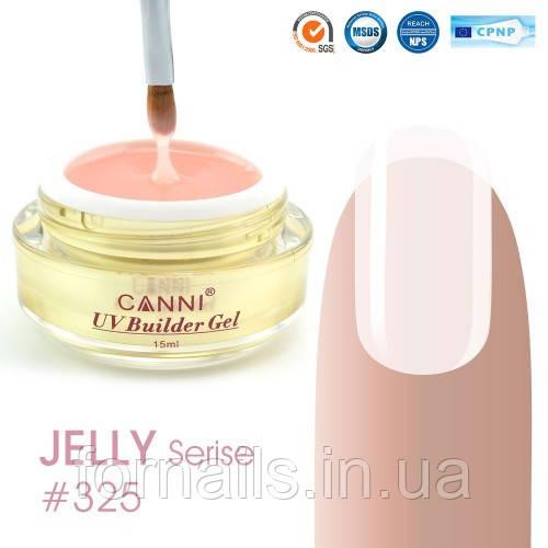 Конструирующий гель Canni 325 Light Nude полупрозрачный
