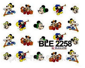 """Водные наклейки """"Мультики"""" BLE-2258"""