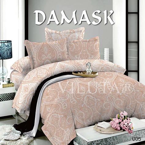 005 Полуторное постельное белье DAMASK Поплин Viluta, фото 2