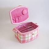 Скринька для рукоділля (з ПВХ підставкою), 23см, фото 2