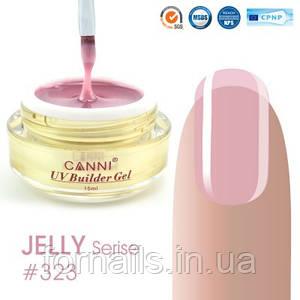 Конструирующий гель Canni 323 Natural Pink полупрозрачный