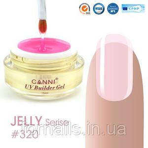 Конструирующий гель Canni 320 Pink clear полупрозрачный