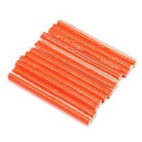 Трубочки на спицы, отражатели, оранжевые