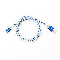 USB Кабель LED Синий iPhone 5/6 (Lightning)